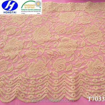Wide Width Elastic Scalloped Edged Lace Trim for Women's Undergarments