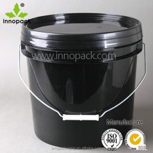 recycled plastic used 5 gallon buckets with lid and handle for paint packing