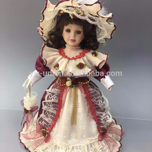45cm size victorian type head leg and arms with porcelain material dolls