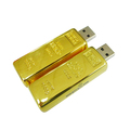 Promotional Gold Bar USB Stick 1GB 4GB 8GB 16GB Wholesale Flash USB Drive for Bank Gift USB