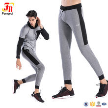 New Sports OEM service full tracksuit sportswear for men gym gray poly running wear wholesale