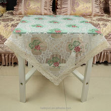 New products super quality water soluble tablecloth with fabric backing