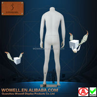 FRP window display male dummy fashion mannequins headless adult doll