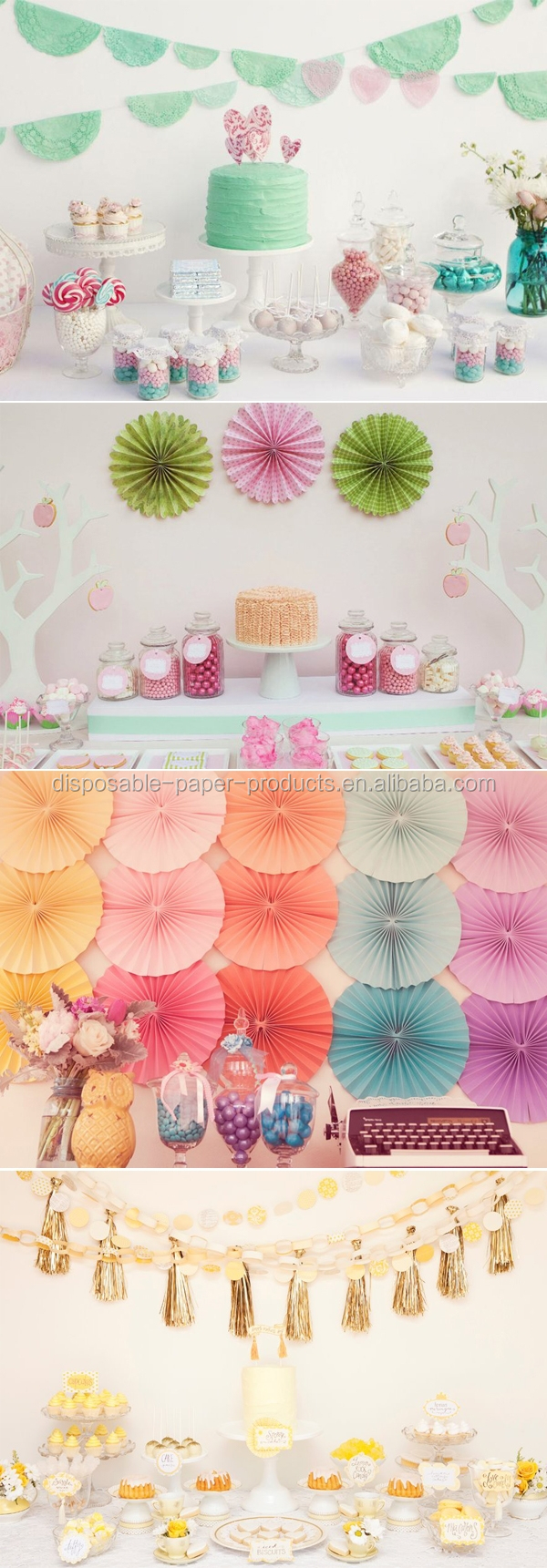 Birthday party backdrop tissue paper pom poms product on alibaba com - Green White Blue Pom Poms Tissue Paper Pom Poms Dessert Tables Decorations Little Girly Party Decorations