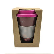 16oz Bamboo Fiber Custom Coffee Mug With Silicone Lid And Holder