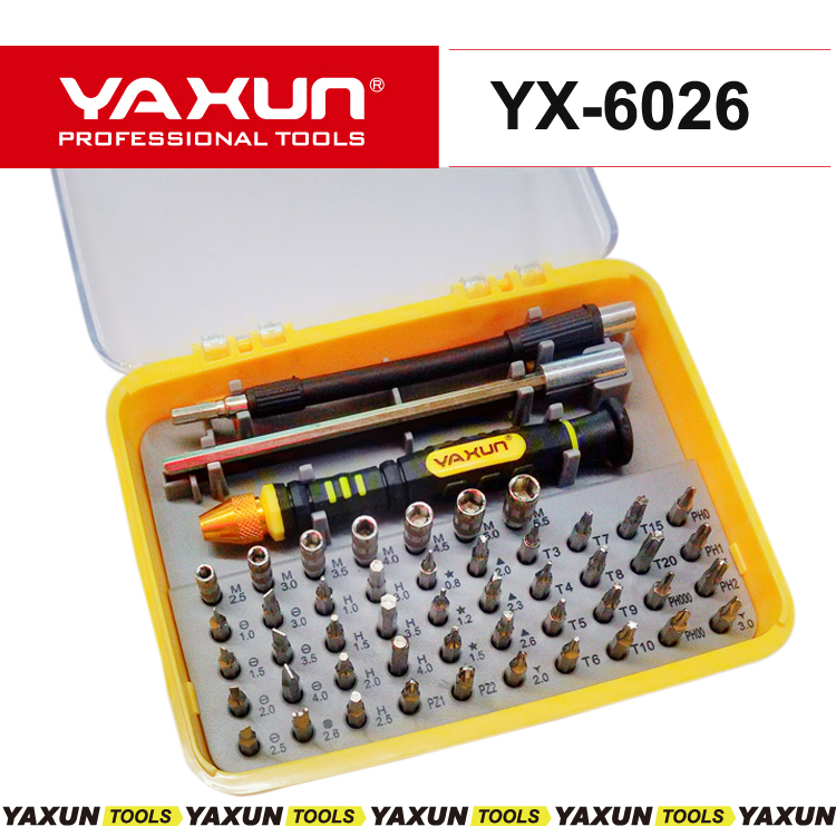 NEW YAXUN 51 in 1 Laptop Repair Tool Kit / Hand tools/ Complete Screwdriver Set For Cell Phones Iphone 4 5S Notebook MP3 Laptop