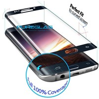Factory wholesale 3D full curved size tempered glass screen protector for samsung galaxy S7 edge