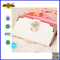 MAGNETIC BLING DIAMOND WALLET CARD LEATHER FLIP MOBILE PHONE CASE COVER FOR APPLE IPHONE 4 4S 5 5S 5C