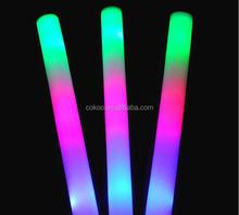 100pcs/lot large glowing sticks / led light up sponge bar and party toys / the queen foam rods concert props
