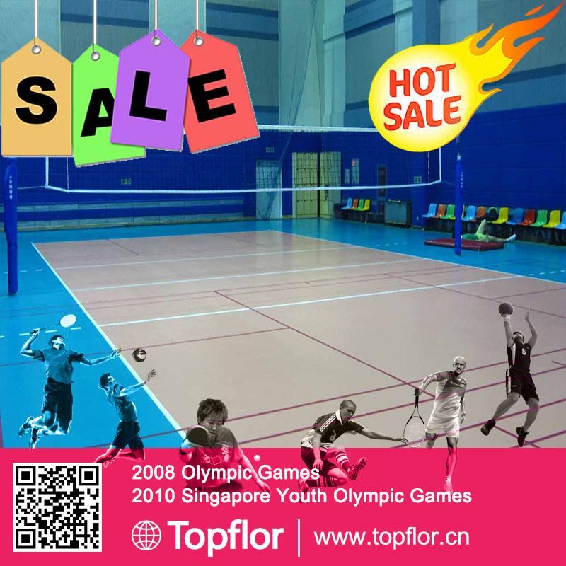 High quality popular eco-friendly interlocking portable volleyball court sports flooring