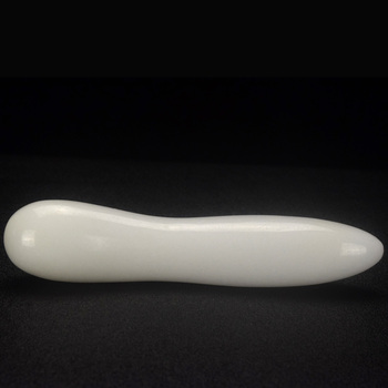 wholesale White Jade massage wands gemstone wand massager for health