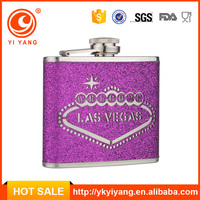 5 oz savoy whisky drinking stainless steel hip flask with purple leather covers