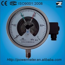 150mm high quality hot sale all stainless steel electric contact bourdon tube pressure gauge manometer