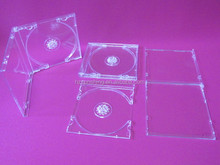 7.5mm cd case wholesale plastic cd/dvd case production customer's logo with tray cd box