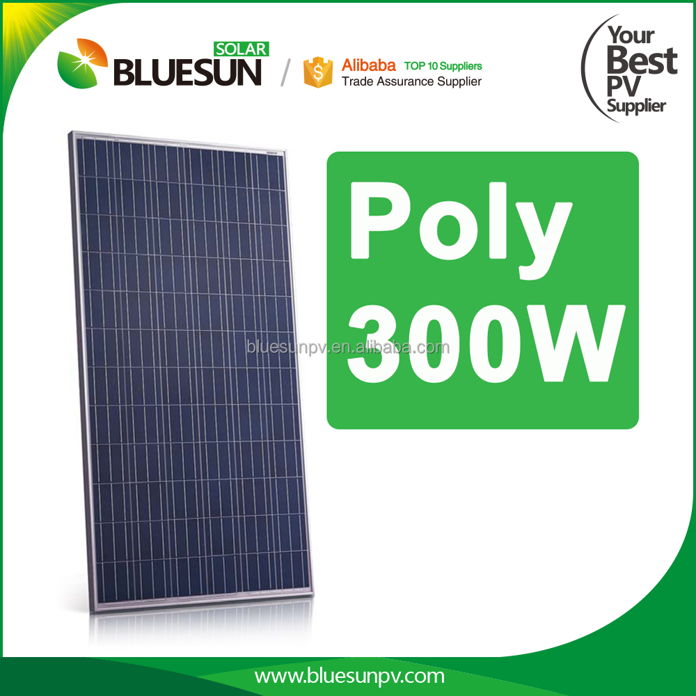 Bluesun China best PV supplier solar panel korea poly 300w solar modules