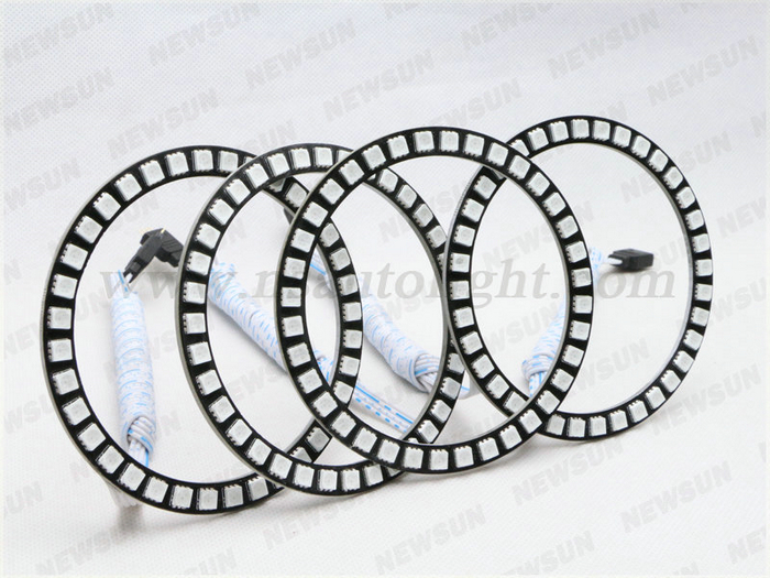 Full Circle Angel Eyes Led Kit 100mm Color Changing Rgb ...