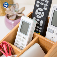 Bamboo Desktop Organizer for Sundries and TV Remote Control Organizer