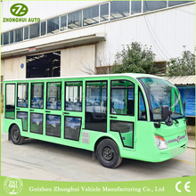 The best selling China 18 seat mini bus with green color