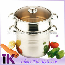 Guangdong hot sale stainless steel pasta cooking pot with strainer and basket