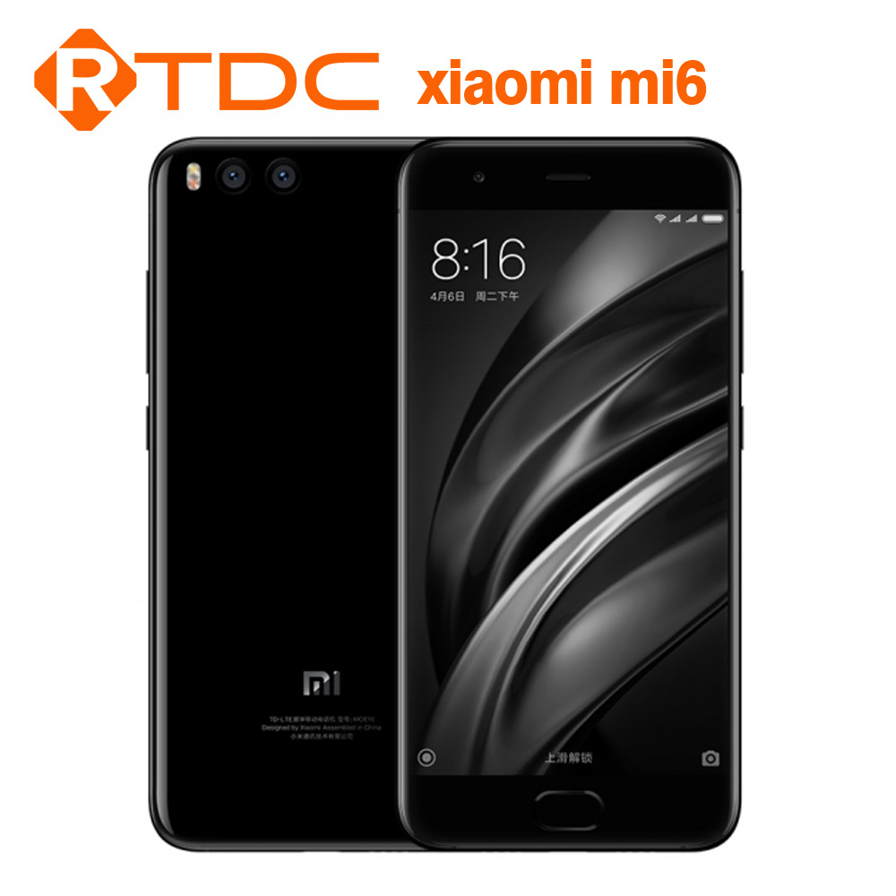 "Global Version Xiaomi mi6 mi 6 mobile phone 6gb ram 64gb rom snapdragon 835 5.15"" 4G unlocked phone"
