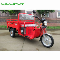 Gasoline and Electric Power Hybrid 3 Wheeler Tricycle