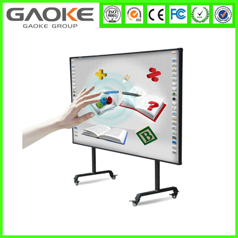 factory price 2 points school supplies interactive white boards handwriting board 82'' 96'' 104'' 130'' smart board for sale