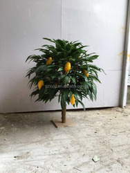 Hot sale artificial fruit tree, cheap artificial mango tree for sale