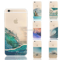 Soft Silicon Transparent natural scene customize clear tpu print case for iPhone 6 6S 4.7''