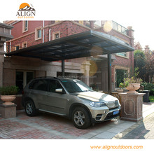 Hot Sale Aluminum Single/Double Patio Garden Parking Shed Polycarbonate Carport