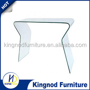 Modern appearance bent Glass Console Table Contemporary