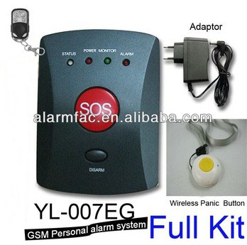 850/1900Mhz GSM Emergency alarm and home guarding alarm system