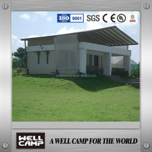 villa and village small cabin prefabricated house/prefab house concrete villa for living restaurant in india