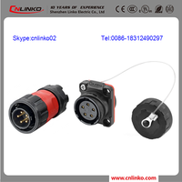 UL,CE,ROHS,ISO9001 ip65/ip67 dc power plugs and sockets 1/4 bayonet plastic connector 5-pin dc connector plug
