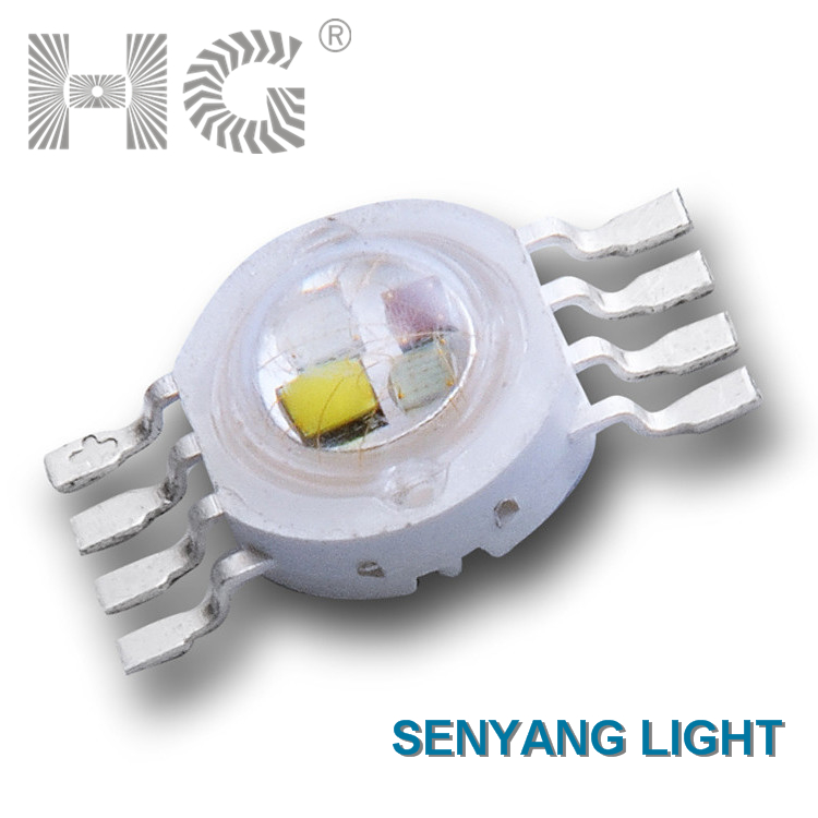 hg led 8 pin 4w rgbw full color high power led EPILEDS 40mil copper beads 4 color in one led high power cob led