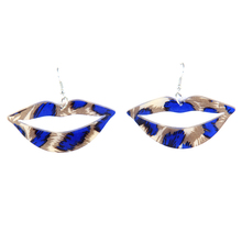 Wholesale Leopard exaggerated fashion mouth shape earrings for women