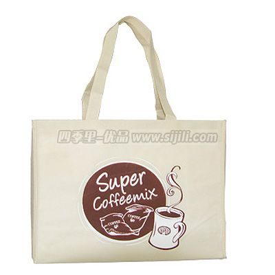Eco-friendly nature pvc coated cotton shopping bag