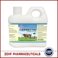 0.08% 1% 2% 1 liter Ivermectin Pour On & Oral Solution & Drech For Cattle Sheep Goats