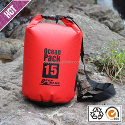 Custom logo PVC tarpaulin Ocean pack Waterproof dry bag with shoulder strap