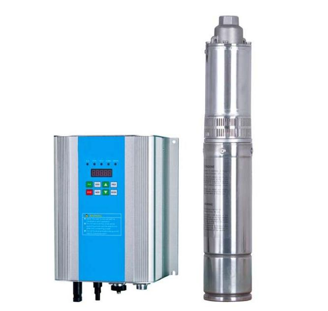 2m3/h 50m Head 1 inch Outlet Borehole Submersible Solar Power Water Pump for Irrigation
