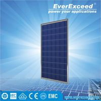 156*156mm 100 watt polycrystalline cell solar module EverExceed,l pv solar panel price