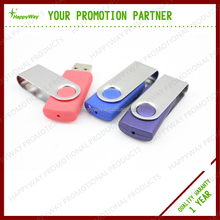 Custom 4 GB Rotate USB Flash Drive, MOQ 100 PCS 0501001 One Year Quality Warranty
