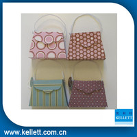 wholesale fancy pink paper purse shaped gift bags with competitive price