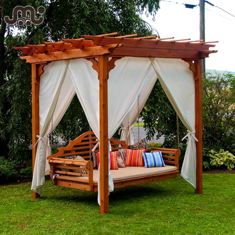 Outdoor handmade noon break garden wood pergola