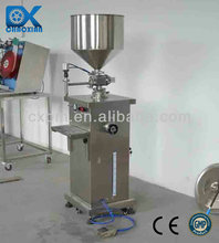 Semi-automatic filling machine for discharge makeup fluid