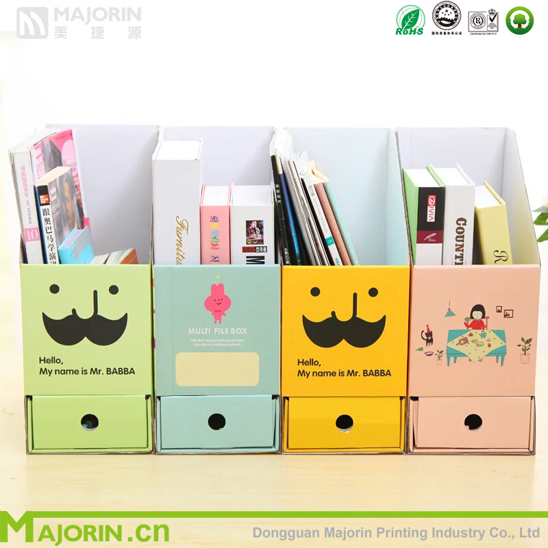 2016 Majorin various recycled color paper box design for books for document