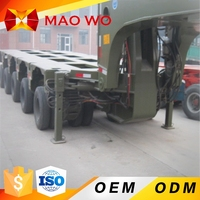 MAOWO 3 axles flatbed extendable 50meters wind blade trailer for sale