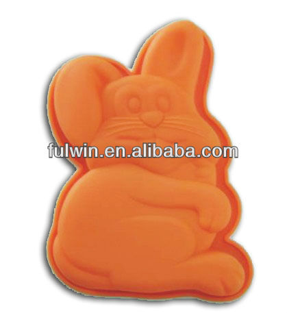 Good coloful rabbit shaped silicone cake mould