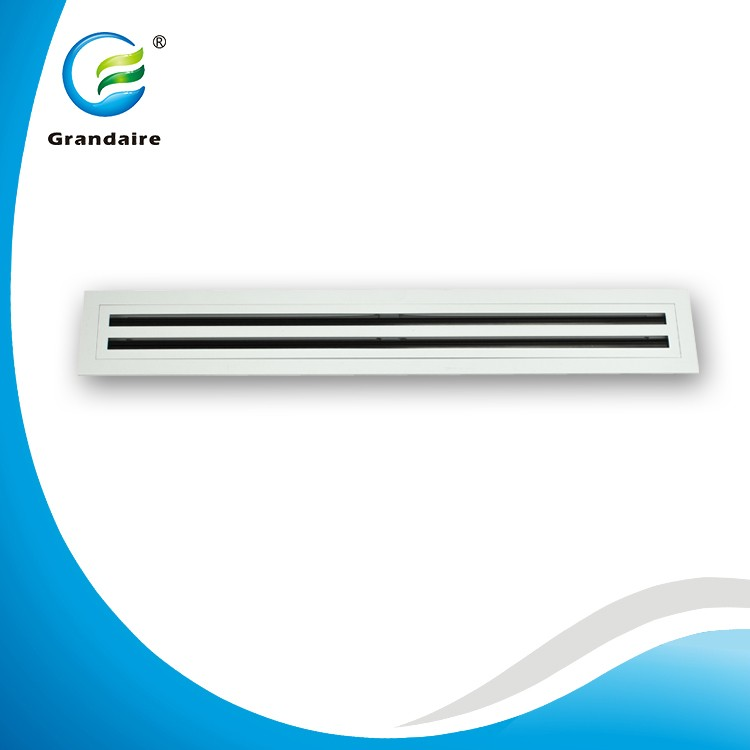 Air Conditioning Aluminum Air Diffuser Linear Slot Grille for Side Wall in White Color