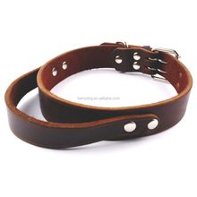 Berry M L Luxury Leather Large Dog Collar For Large Dog Breeds