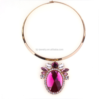 2015 new necklace jewelry fashion Choker necklace oval pendant